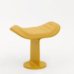 Dante - Goods and Bads H.E.A.310 leather upholstered stool by Christophe de la Fontaine