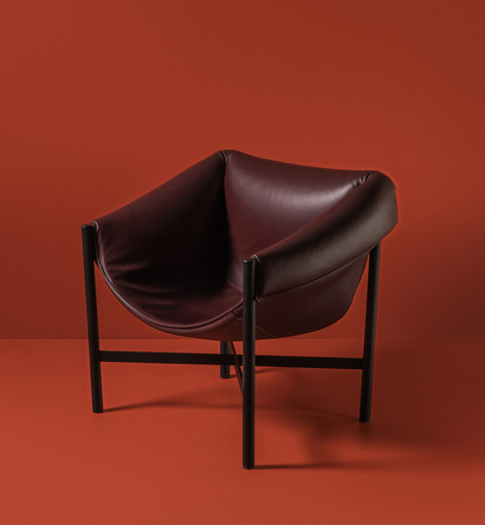 Dante - Goods and Bads Falstaff armchair by Stefan Diez