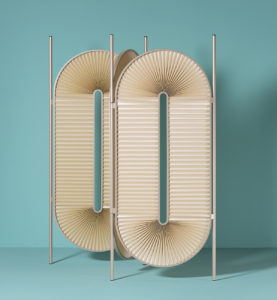 Dante - Goods and Bads Minima Moralia room divider by Christophe de la Fontaine champagne