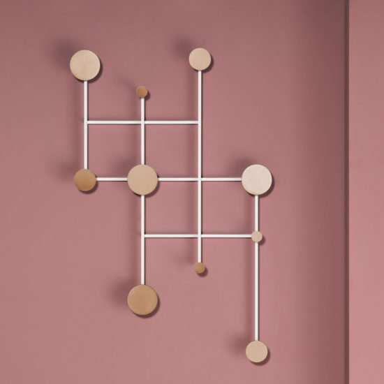 Memoir adjustable aluminium coat rack by Jakub Zak for Dante Goods and Bads