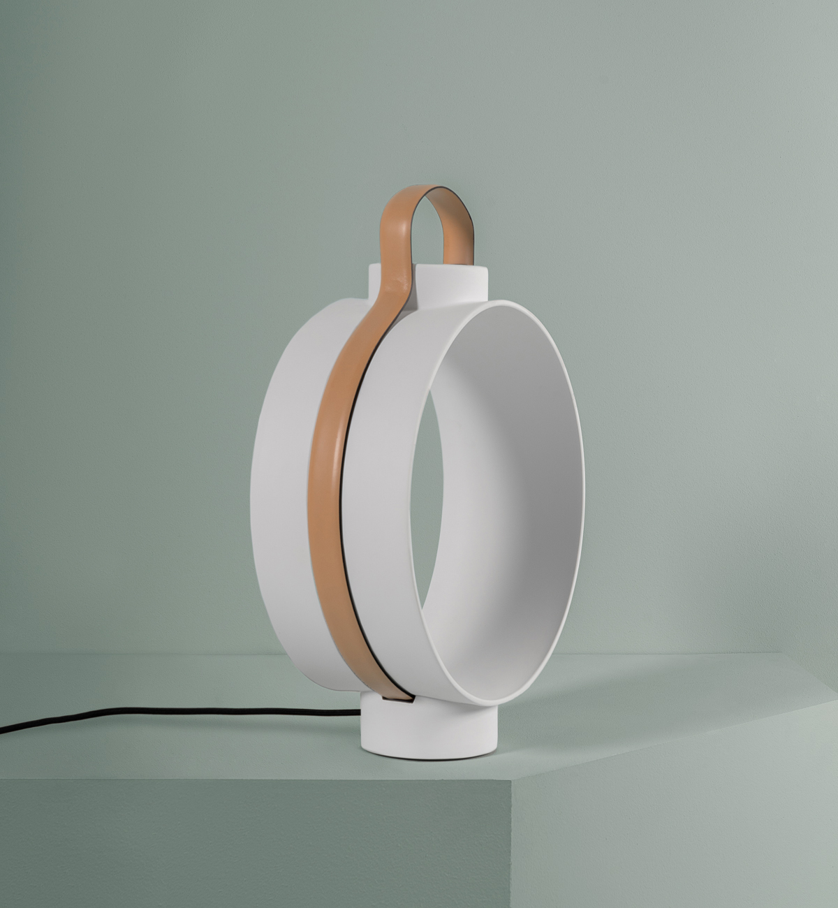 Dante - Goods and Bads Nightingale porcelain lantern by Christophe de la Fontaine white beige