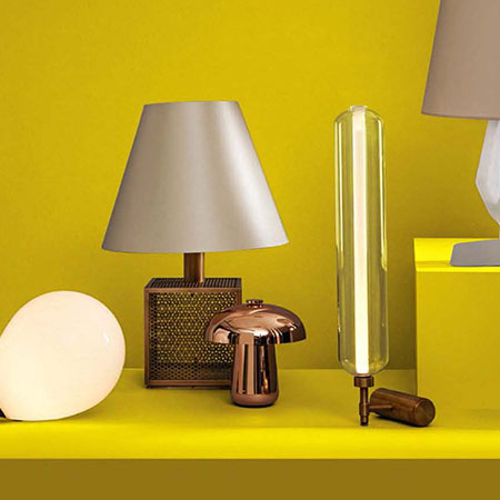 Scintilla brass lamp by Pietro Russo for Dante Goods and Bads