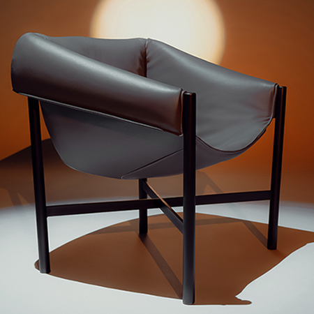 Dante - Goods and Bads Falstaff armchair by Stefan Diez grey leather