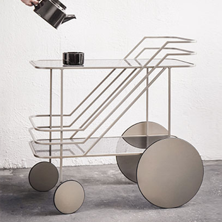 Dante - Goods and Bads Come As You Are bar cart by Christophe de la Fontaine champagne