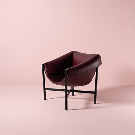 Dante - Goods and Bads Falstaff armchair by Stefan Diez bordeaux leather
