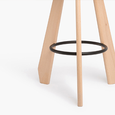Dante - Goods and Bads The Third wooden bar stool by Christophe de la Fontaine
